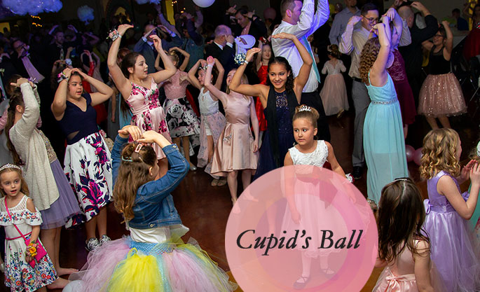 girls dancing at the cupids ball